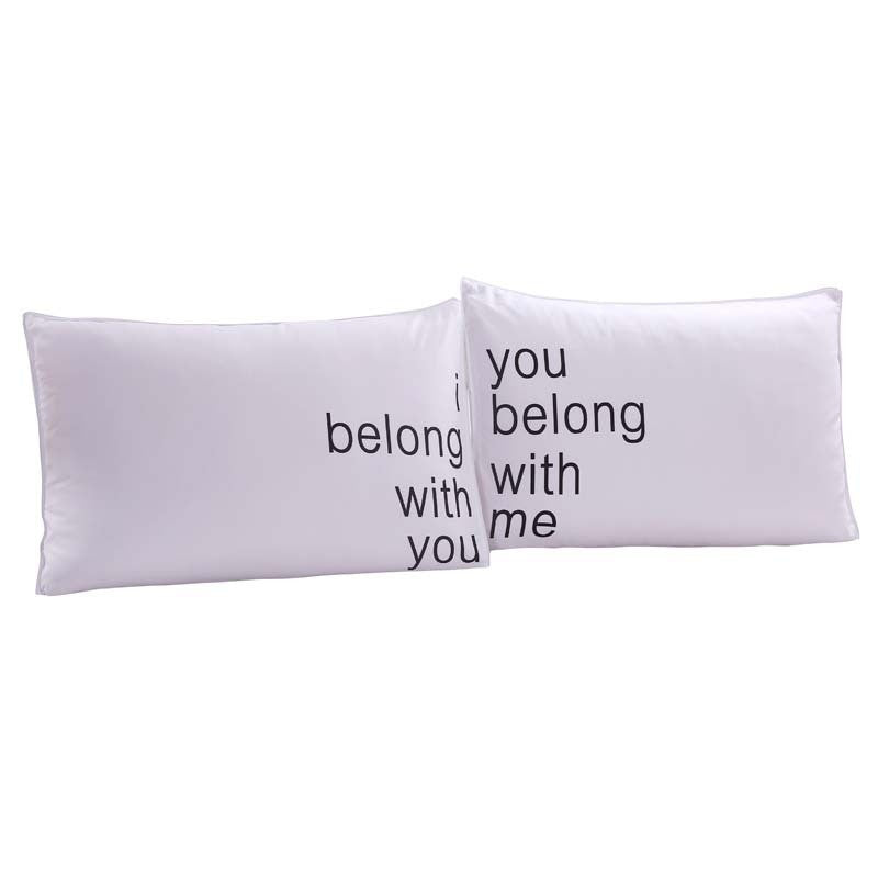Belong with you  Couples Pillowcase   Upgrading Quality