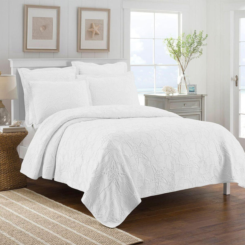 Lamont Home Calypso White Coverlet