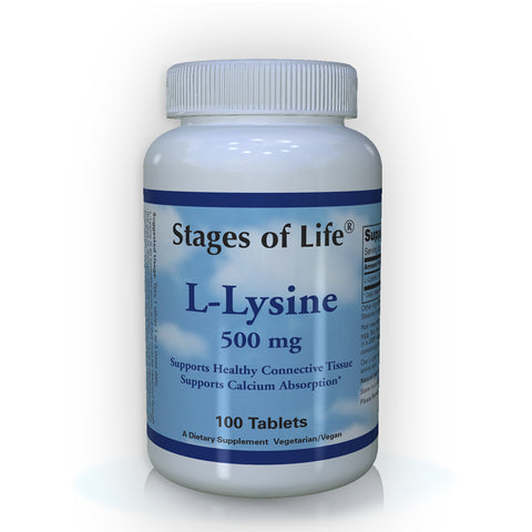 L-Lysine - 500 mg - 100 Tablets