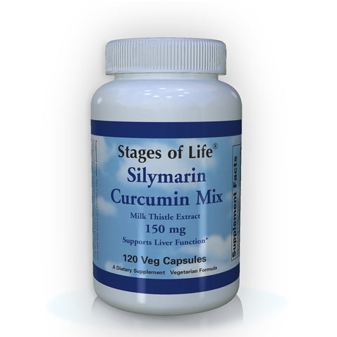 Silymarin Curcumin Mix - Milk Thistle Extract - 150 mg - 120 Capsules