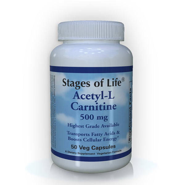 Acetyl-L Carnitine - 500mg - 100 Capsules