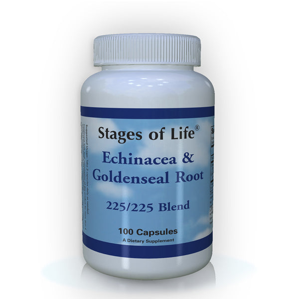 Echinacea and Goldenseal Root - 100 Capsules