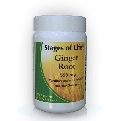 Ginger Root - 550 mg - 100 Capsules