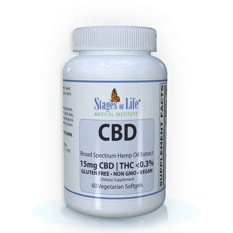 CBD Broad Spectrum Hemp Oil Extract- 15 mg CBD | THC <0.3% , 60 Softgels