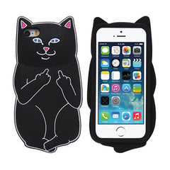 Middle Finger Cat Iphone Case