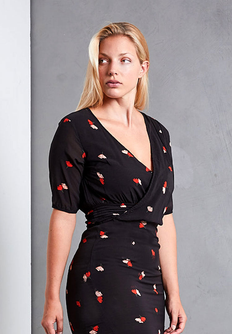 Silk Poppy Dress