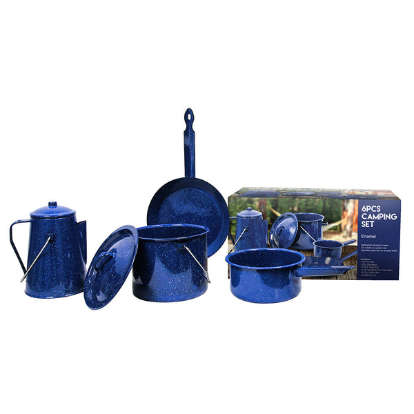 6pc Enamel Campware Set