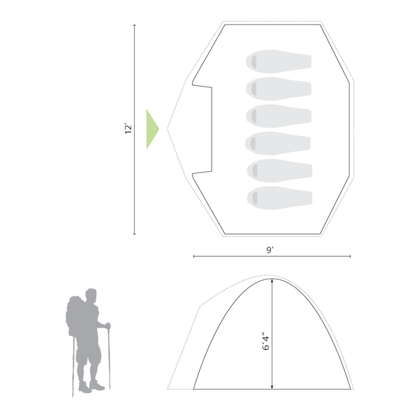 Sierra 6 Person Tent