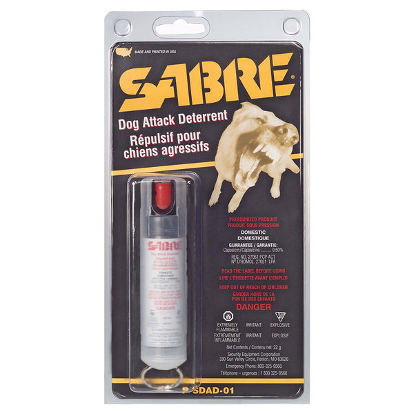 Sabre 22g Dog Attack Deterent w/ Pocket Clip