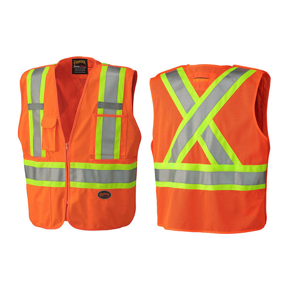 Pioneer Hi-Viz Safety Tear-away Mesh Back Vest