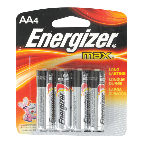 Energizer Max Batteries 4 Pack