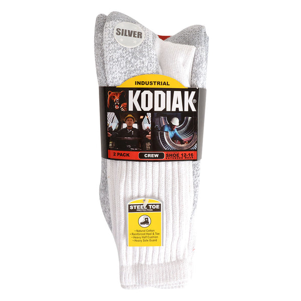 Kodiak 2 Pack King Size Steel Toe Work Sock 12-16