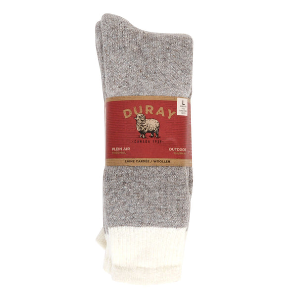 3pk Thermal Socks Natural Grey 10 - 13