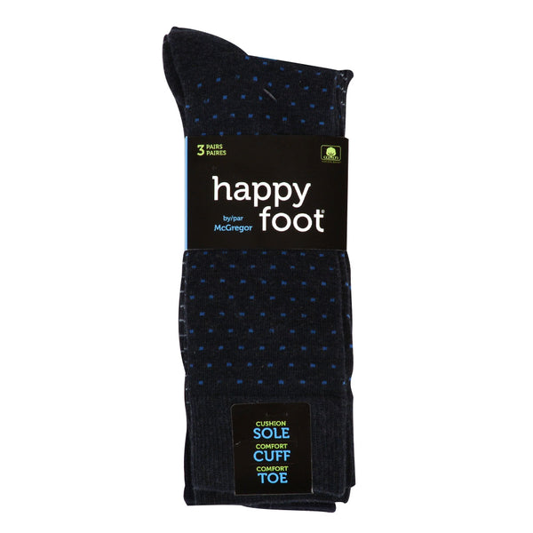 Happy Foot 3PK Fashion Crew Socks 7-12