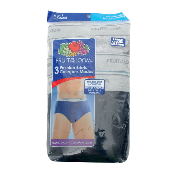 Fruit of the Loom 3 Pack 100% Cotton Briefs