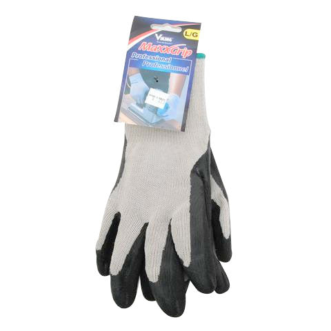 MaxxGrip Rubber Bottom Gloves - Black