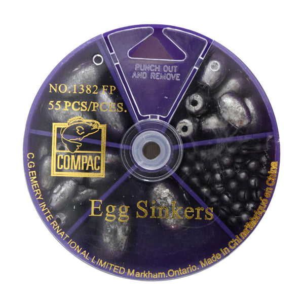 55pk Assorted Egg Sinkers