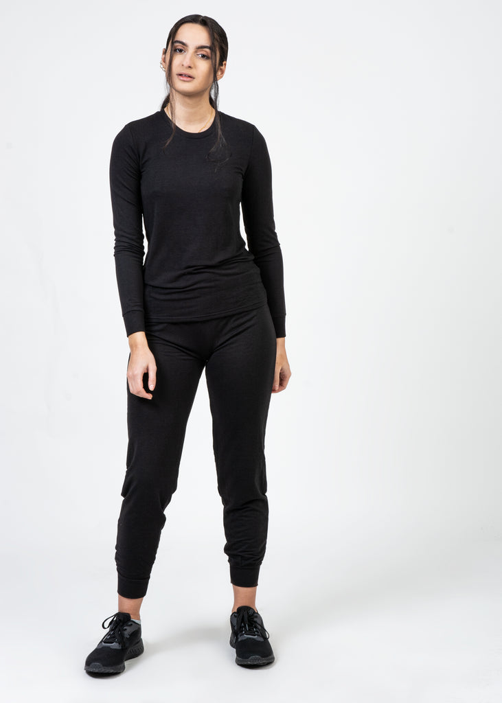 Black 2-Piece Ultra Soft Loungewear Set