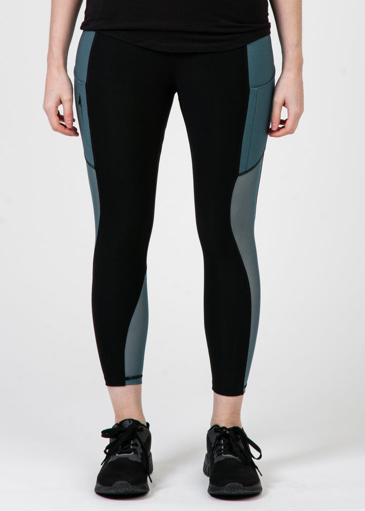 Dark Blue Panel Yoga Pant