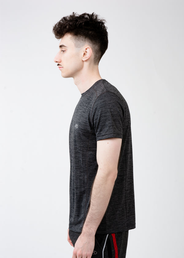 Black Athletic Crew Neck Tee