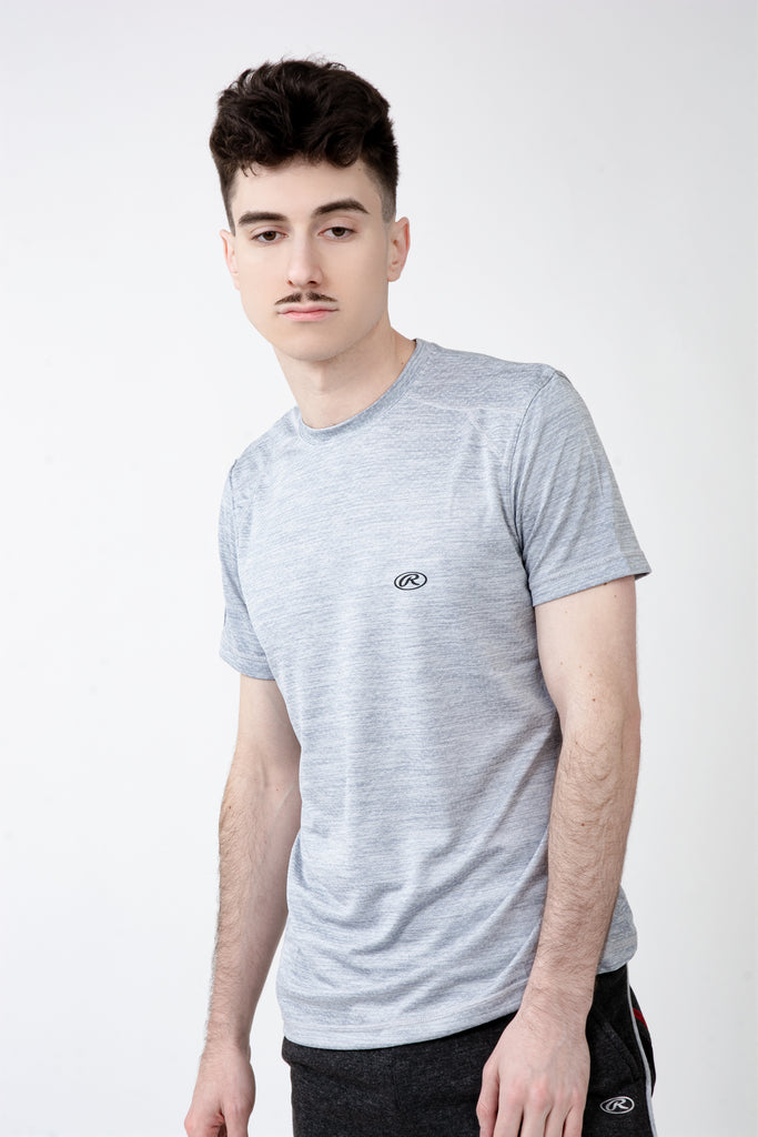 Light Grey Athletic Crew Neck Tee