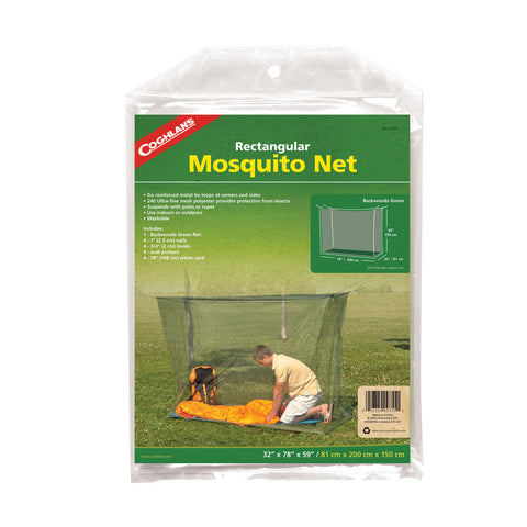 Coghlans Backwoods Rectangular Mosquito Net - Green