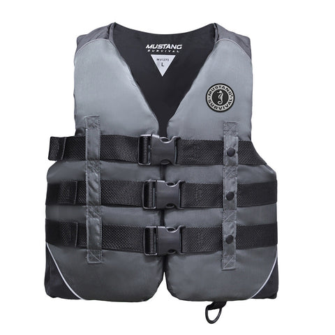 SM Nylon Survival & Outdoor Apparel Vest - Black/Charcoal