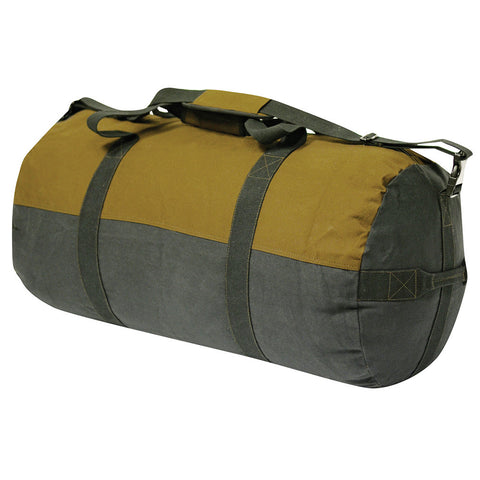 World Famous Waxed Canvas Round Duffle 24""