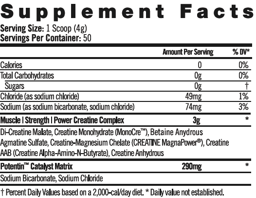 Supplement Facts - CREATINE A5X™
