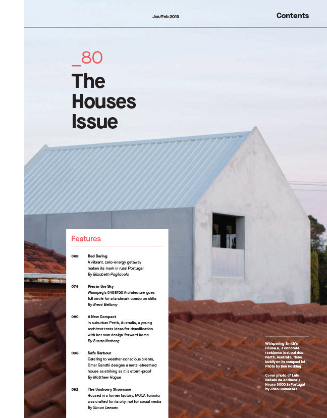 The Houses Issue, Jan/Feb 2019 - Contents 1