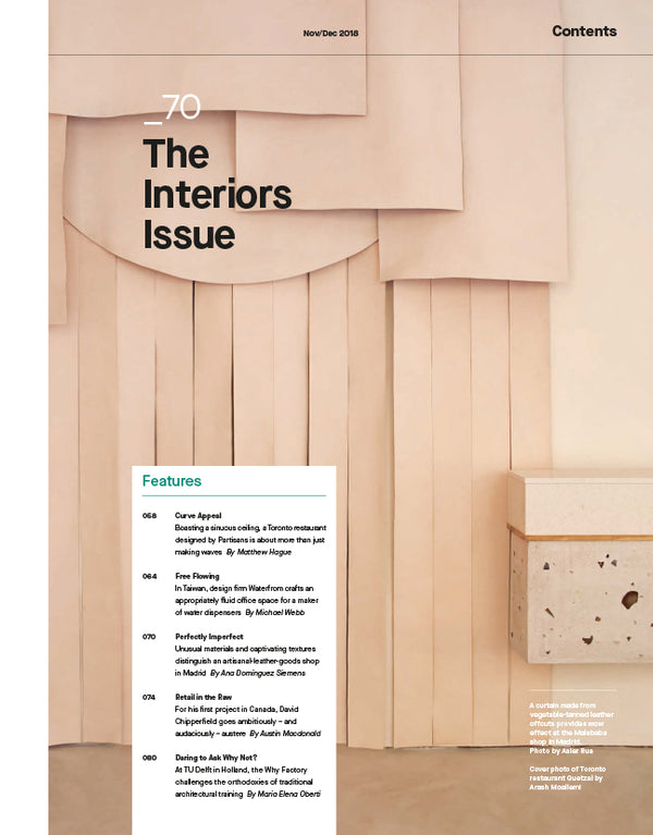 The Interiors Issue, Nov/Dec 2018