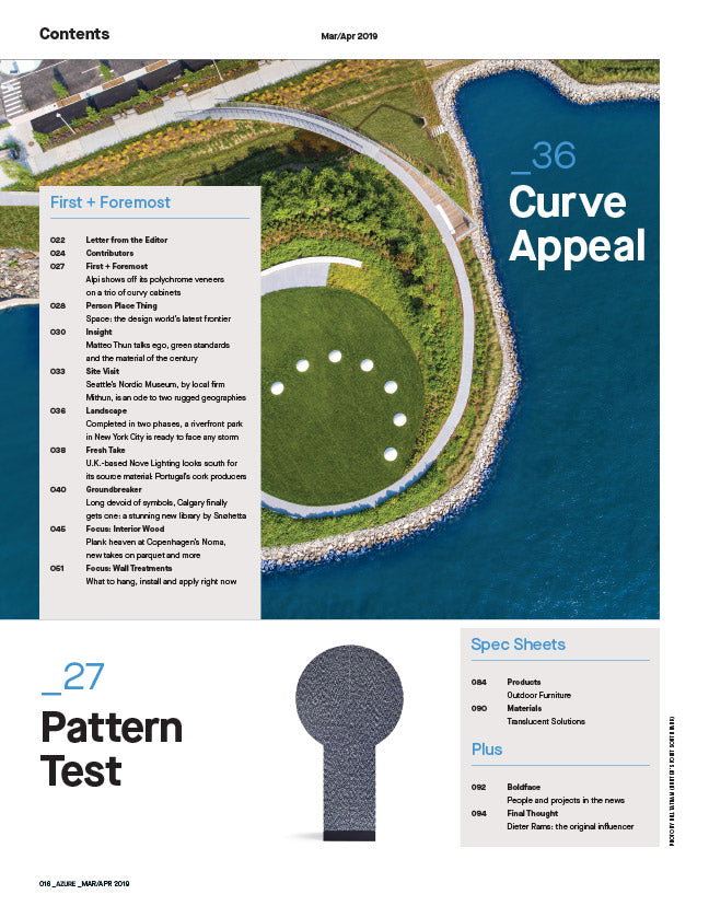 The Products and Materials Issue, Mar/Apr 2019 - Contents 2