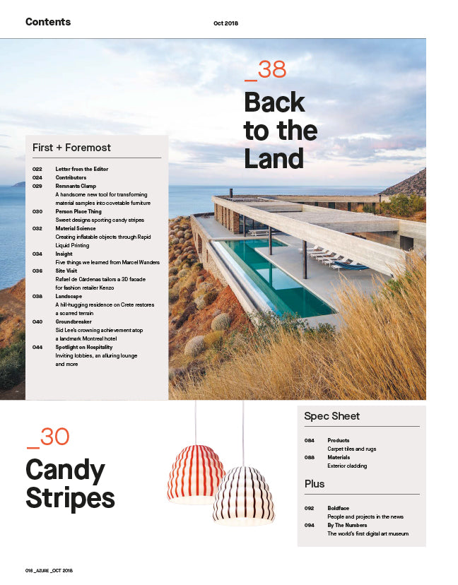 The Trends Issue, Oct 2018 - Contents