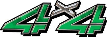 4x4 Decals Green Smoke