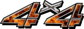 4x4 Decal Real Flames