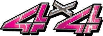 4x4 Decals Pink Lightning