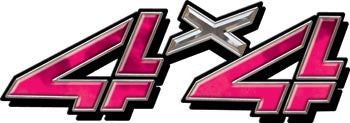 4x4 Decals Pink Smoke