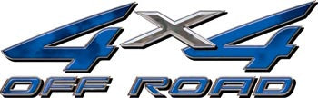 4x4 Offroad Decals Blue