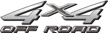 4x4 Offroad Decals Silver
