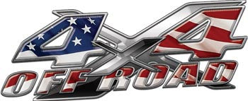 4x4 Offroad Decals American Flag
