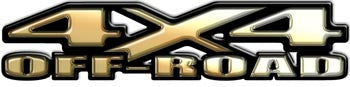 4x4 Off Road Decals Gold