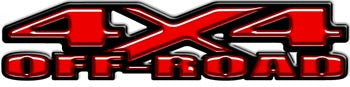 4x4 Off Road Decals Red