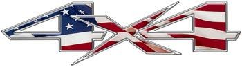 Custom 4x4 Decals - American Flag