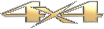 Custom 4x4 Decals - Gold
