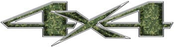 Custom 4x4 Decals - Green Camo Look