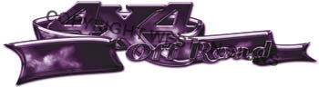 Custom 4x4 Decals Purple Fire