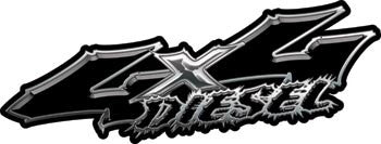 Wicked Series 4x4 Diesel Black Decals