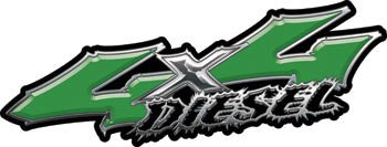 Wicked Series 4x4 Diesel Green Decals