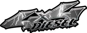 Wicked Series 4x4 Diesel Lightning Gray Decals