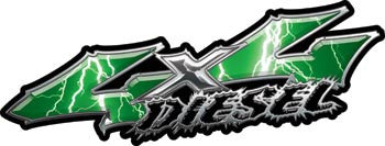 Wicked Series 4x4 Diesel Lightning Green Decals